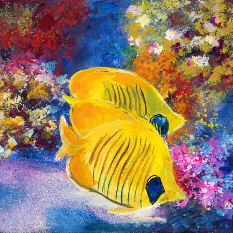 Coral Reef And Butterfly Fish CR 1080h70
